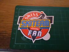 ADESIVO VINTAGE STICKER KLEBER SWISS SKITEAM RIVELLA FAN