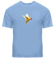 Cute Parrot Yellow Unisex Tee T-Shirt Mens Women Gift Shirts Print Short Sleeve