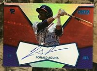 Ronald Acuna Jr. 2017 Onyx Platinum Elite AUTO RC BLUE #RA-PE17 Braves *READ*