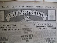 1920's Filmograph + Early Hollywood NewsPaper & Magazines - Silent Film Era