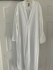 NWOT Free People Eva Dress white sz Large