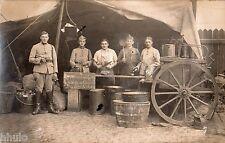 DA360 Carte Postale Photo vintage RPPC Militaire groupe cuisinier cuisine Dussel