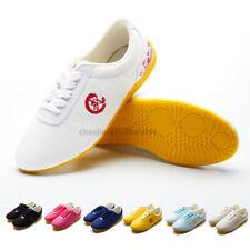 7 Colors Kids& Adults Tai Chi Martial Arts Wushu Kung Fu Wing Chun Canvas Shoes