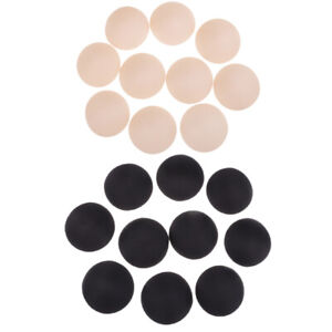 10 Pairs Round Inserts Pads Cup Bra Insert Enhancers Black Nude Each 5 Pairs