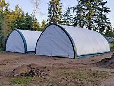 20x30x12 Canvas Fabric Building Shelter Carport Boat Storage Barn Portable