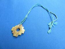 Macrame Ethnic Jewelry Chakana A Pendant Necklace South American Inca Cross
