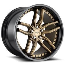 "4-Niche M195 Methos 20x9 5x4.5"" +35mm Bronze/Black Wheels Rims 20"" Inch"