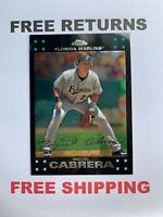 2007 Topps Chrome Base Card #25 Miguel Cabrera Florida Marlins MLB