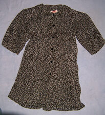 Women's 24 W TUNIC TOP black & gray button front loose fitting USA jacket blouse
