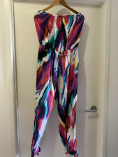 Seafolly Silk Jumpsuit Sz M