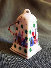 1988 Bell China Christmas Village Ornament Stamped Lvc