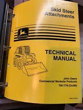 John Deere Skid Steer Attachments Technical Manual Tm1779 1099