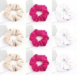 Soft Velvet Scrunchie Elastic Hair Tie Ponytail Holder