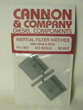 "Cannon & Company 1360 Inertial Filter Hatches for EMD SD70/SD70M (2) ""HO"""