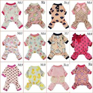 Fitwarm Princess Girl Pet Clothes Dog Shirt Cat Pajamas Jumpsuit Coat XS S M L