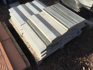 Concrete Coping Stones - 40nr - Light Grey - 175 x 600mm - Twice Weathered