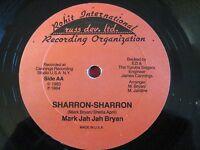 """RARE REGGAE ROOTS 12"""" MARK JAH JAH BRYAN - SHARRON-SHARRON - ROHIT INTERNATIONAL"""