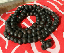 10mm Tibet Buddhism 108 Roast Peach Wood Prayer Bead Mala Necklace