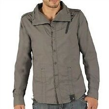 BENCH MENS GREY LONG SLEEVE CASUAL SHIRT SIZE SMALL BNWT RRP £55.00
