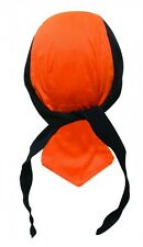 Black Orange Select Large Doo Rag Durag Skull Cap Terry Cloth Sweatband Capsmith