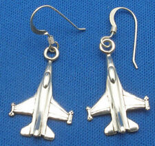 F-16C Fighting Falcon Earrings, Hand Crafted Sterling Silver 1/700 scale F 16