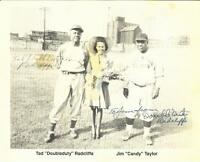 TED DOUBLE DUTY RADCLIFFE  AUTOGRAPHED 8 X 10 PHOTO