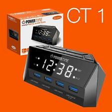BEARE Powertime Inteliset digital alarm clock with  4 USB Charging ports