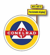 "Conelrad decal/sticker cold war buff Control Electromagnetic Civil Alert 3"" p43"