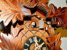 ****NICE  8 DAY LINDEN WOOD  BLACK FOREST GERMANY CUCKOO CLOCK****