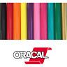 """Oracal 651 Permanent Self Adhesive Indoor Outdoor Craft Vinyl 12"""" Width Roll(s)"""
