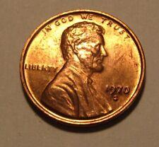 1970 S Small Date Lincoln Cent Penny - AU+/BU Condition - 128SU