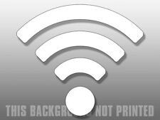 4x4 inch White WIRELESS WIFI Bars Window Sticker - internet logo business symbol