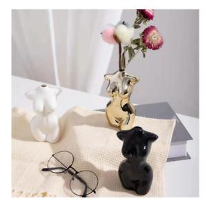 Body Art Nordic Minimalist Vase Home Decor Aesthetic Ceramic Dried Flowers Gift