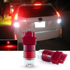 5-times Flashing Strobe Red 3157 T25 LED Bulbs For Taillight Brake Stop Lights