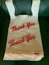 Bags 1/6 Large 21 x 6.5 x 11.5  THANK YOU T-Shirt Plastic Grocery Shopping Bags