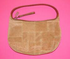 Coach 9296 Tan Suede Leather Hobo Handbag Purse