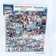 White Mountain Puzzles The Eighties 1980's - 1000 Piece Jigsaw Puzzle USA NEW
