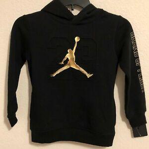 NWT Air Jordan Little Boys Gold Champs Pull-Over Sweatshirt Hoodie Size 4