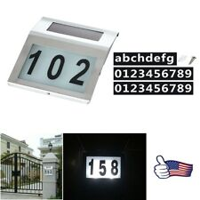 Solar Powered LED Address Sign Routed Back Lighted Sign House Number Plaque US