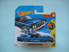 Diecast Hotwheels HW Art Cars '64 Lincoln Continental Blue on Blister