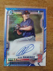 2021 Bowman Chrome Aldo Ramirez Prospect Blue Mojo Auto #44/150 SP- Red Sox