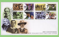 New Zealand 2007 Centenaries set on First Day Cover