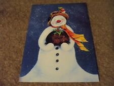 5 Christmas Cards snowman with tray of food by Tree Free Greetings