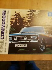 1970? Opel Commodore Brochure