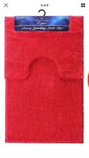 Red Glittet Bath Mat Set (Pedalstool) Brand New!! Look