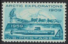 Scott 1128- Arctic Explorations, North Pole- MNH 4c 1959- unused mint stamp