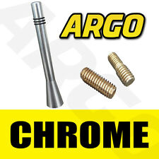 LEGA cromo nero alluminio Bee Sting Antenna Auto Mini Antenna Mast Ariel Arial