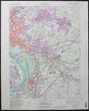 1981 US Geological Survey Map Trenton NJ East Quadrangle Hamilton Bordentown