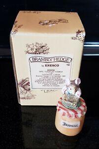 Brambly Hedge Enesco Mr Toadflax Thimble Jill Barklem 1991 in Box