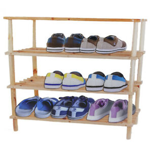Shoe Cabinet 4 Shelves Shelf Wooden Port Shoes Order Salvo Space Home 3168